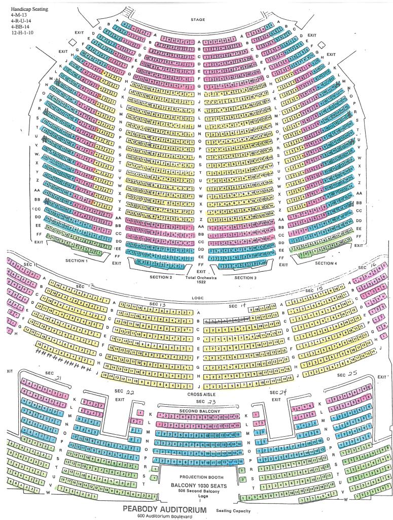 Peabody Seating Chart Daytona Beach